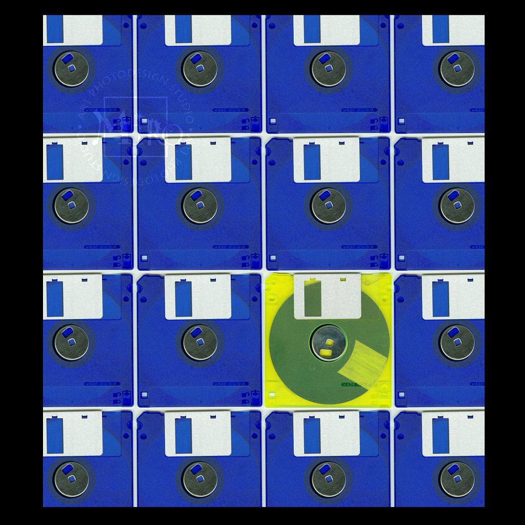 Floppy Disc Collage